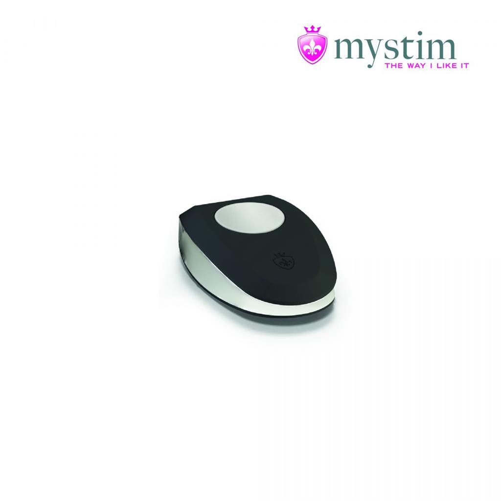 Черная пробка Mystim Rocking Vibe S с возможностью подключения к электростимулятору (9,7 см)