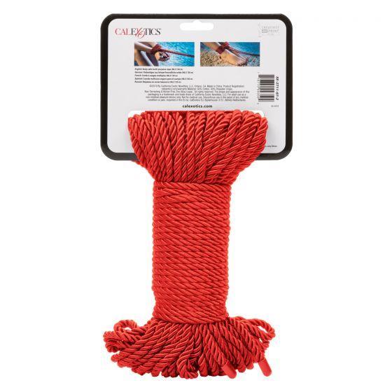 Красная веревка для связывания BDSM Rope - 30 м.