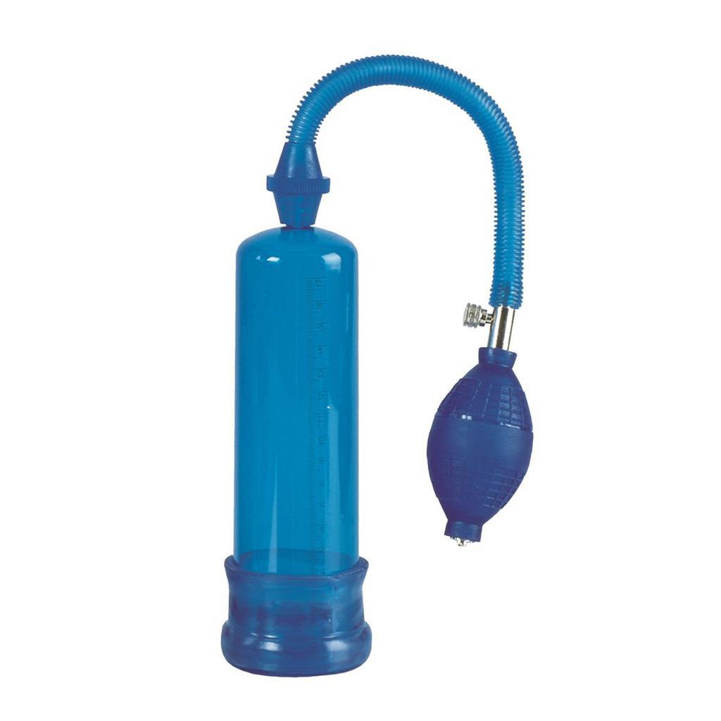 Синяя вакуумная помпа Head Coach Penis Pump