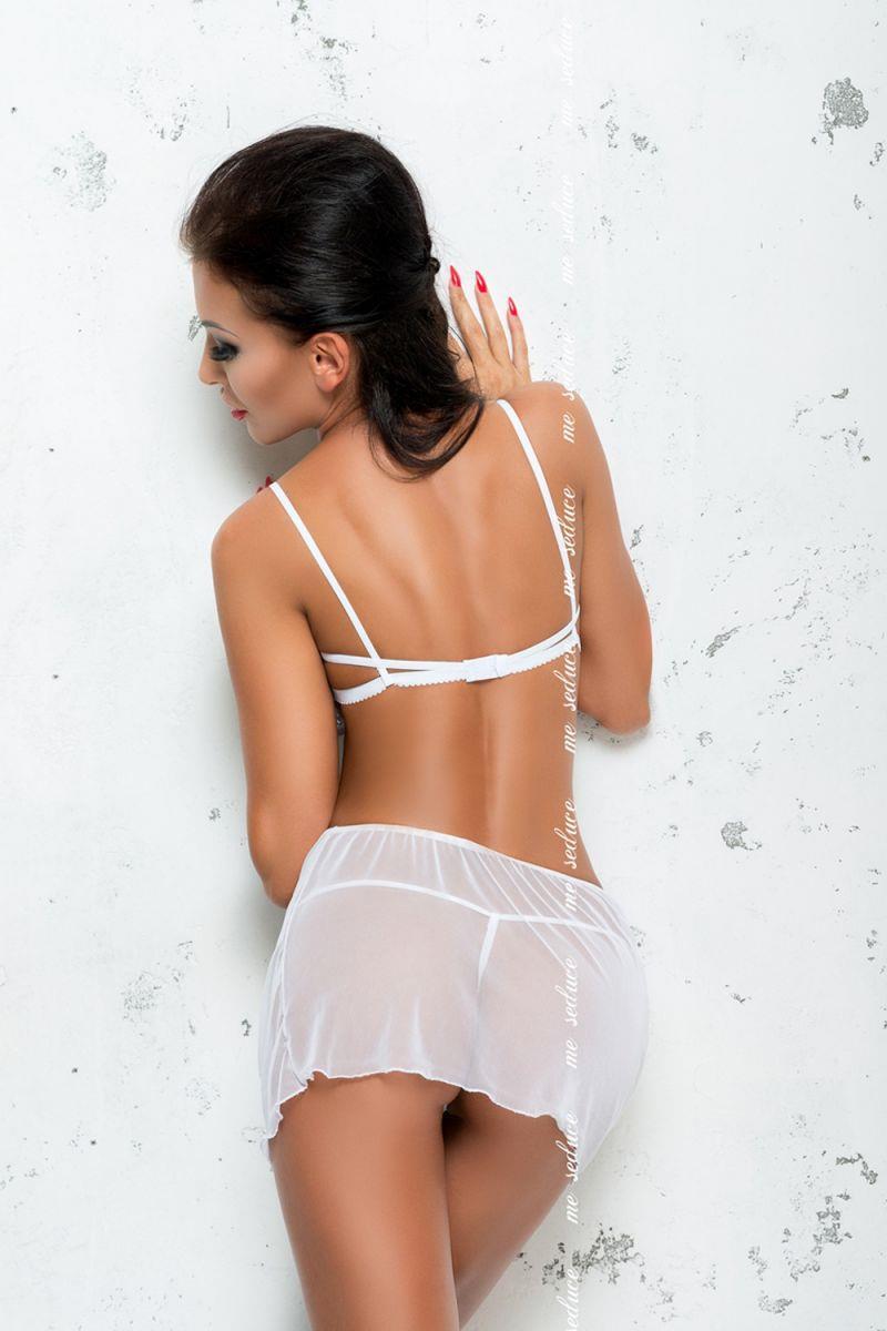 Тюлевая сорочка Amelie с кружевным лифом и открытой спиной