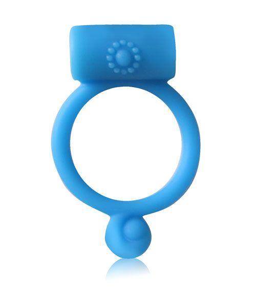 Синее силиконовое кольцо с вибрацией