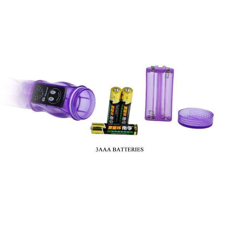 Гибкий вибромассажер со стимуляцией клитора и точки G (22 см)
