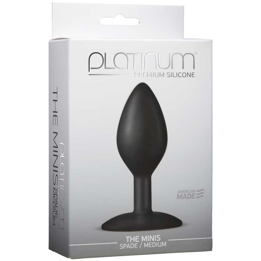 Черная анальная пробка The Minis Spade Medium - 10 см.