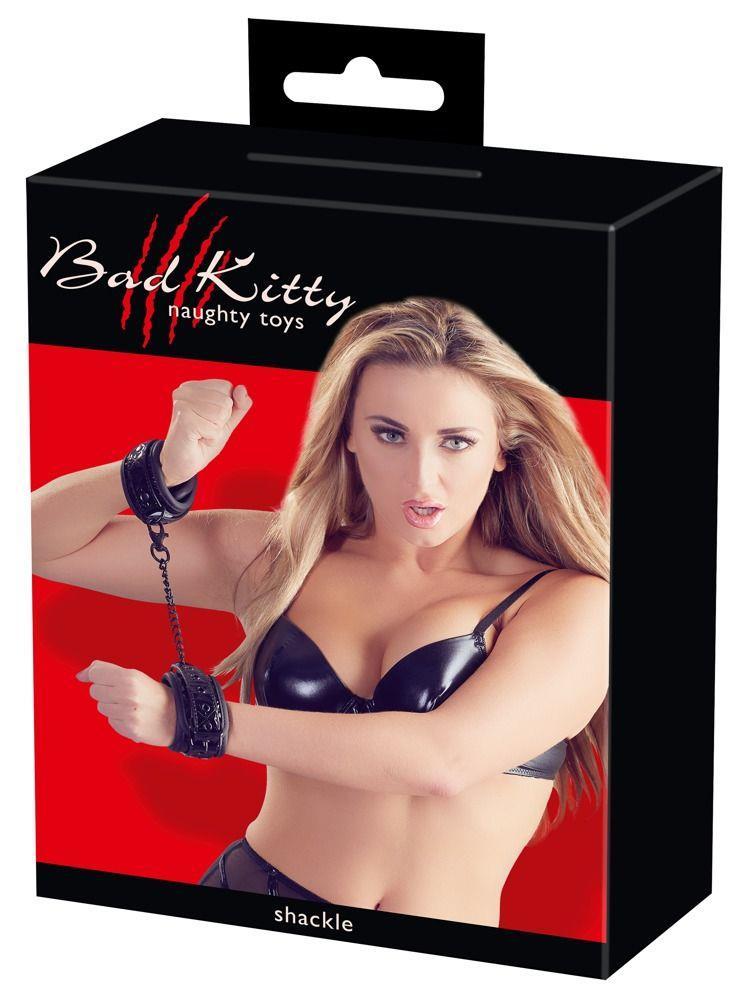 Наручники Bad Kitty Handcuffs с геометрическим узором