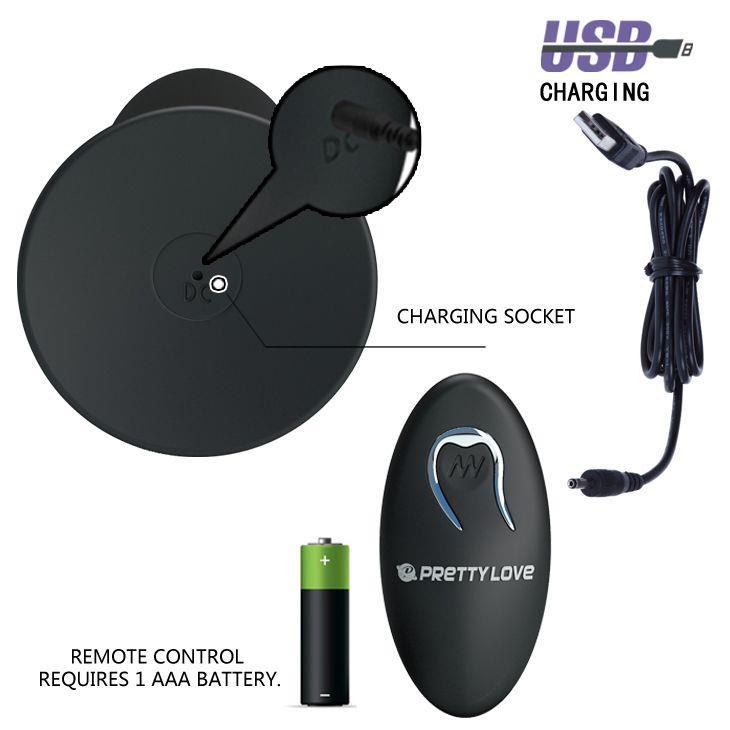 Анальная пробка с вибрацией и пультом управления Remote Control Vibrating Plug (11 см)