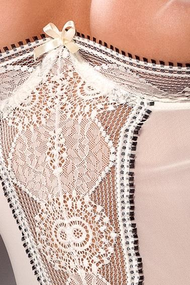Прелестный корсаж Lanai с открытой грудью и итальянским кружевом