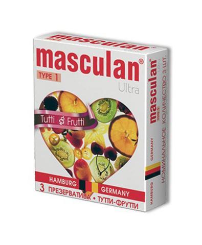 Презервативы Masculan Ultra Tutti-Frutti с фруктовым ароматом (3шт)