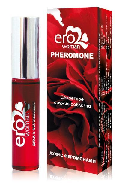 Женские духи с феромонами «Erowoman №11». Аромат «212 Sexy» (10 мл)