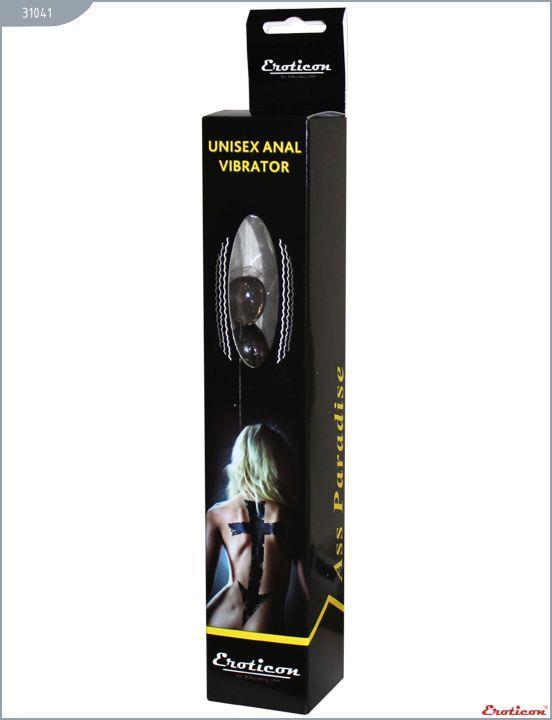 Чёрный анальный вибратор ASS PARADISE (19 см)
