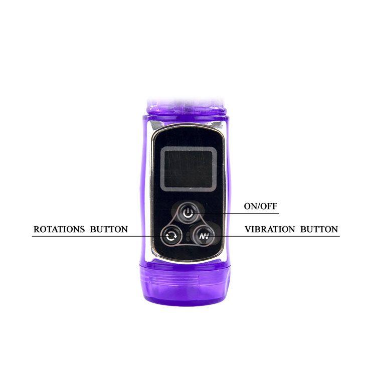 Фиолетовый хай-тек вибромассажёр Super Passion Count - 23 см.