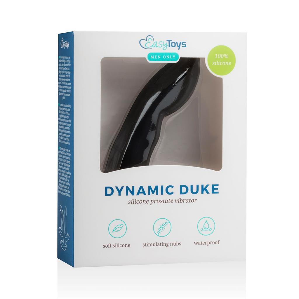 Черный вибростимулятор простаты Dynamic Duke