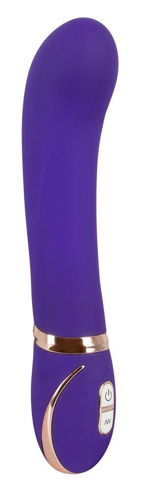 Фиолетовый вибромассажер для точки G Front Row Pink GR - 22 см.