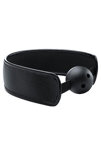 Черный кляп Brace Balll Black
