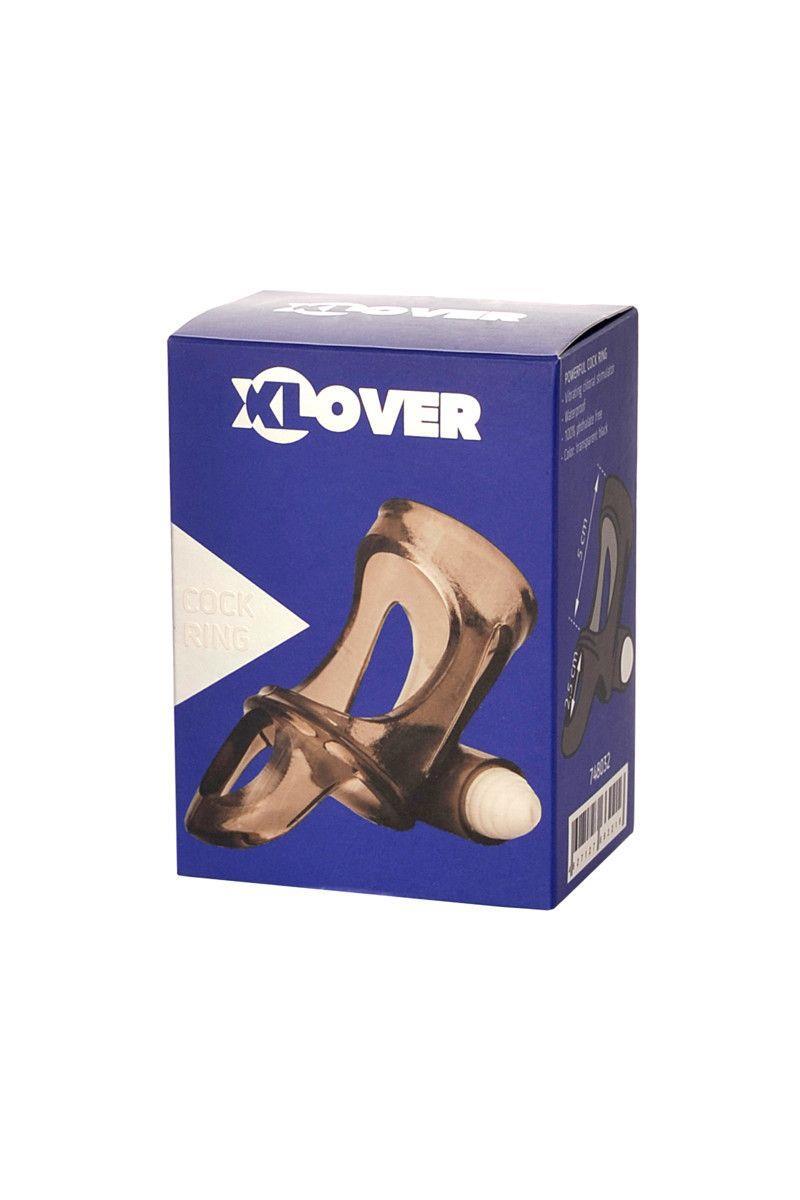 Дымчатая насадка на пенис Toyfa - XLover с вибропулей