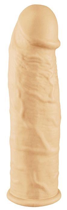 Телесная вибронасадка-удлинитель ORGASM GENERATOR SLEEVE - 16 см.