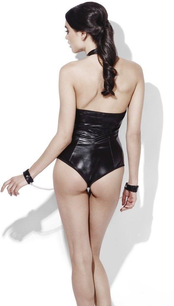Боди рабыни с манжетами и цепью Mistress Bodysuit