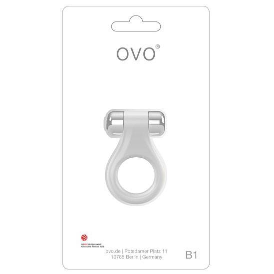 Эрекционное кольцо белое OVO B1