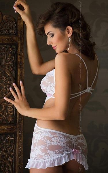 Сорочка Agnese с лентой под лифом и открытой спиной