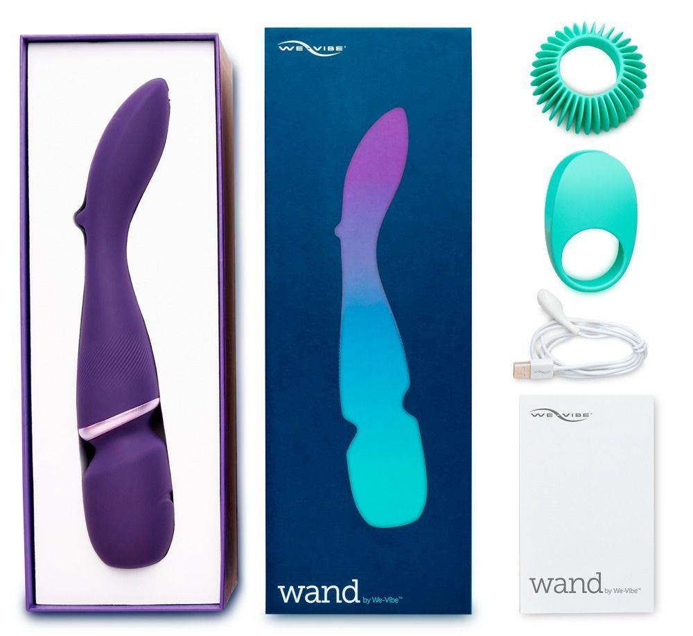 Фиолетовый вибратор-жезл We-Vibe Wand