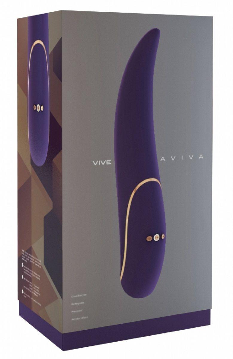 Фиолетовый вибратор Aviva с тонким кончиком - 19,8 см.