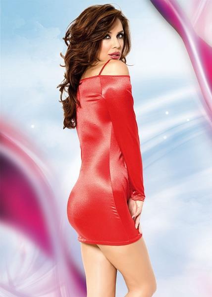 Миниплатье TYLER с открытыми плечами и длинными рукавами