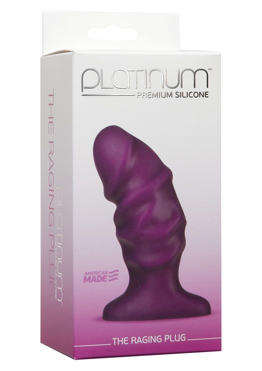 Фиолетовый анальный стимулятор The Raging Plug - 11 см.