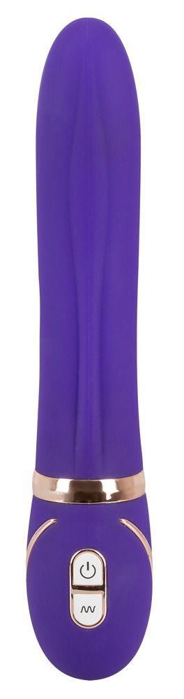 Фиолетовый вибромассажер для точки G Glam Up Purple GR - 22 см.