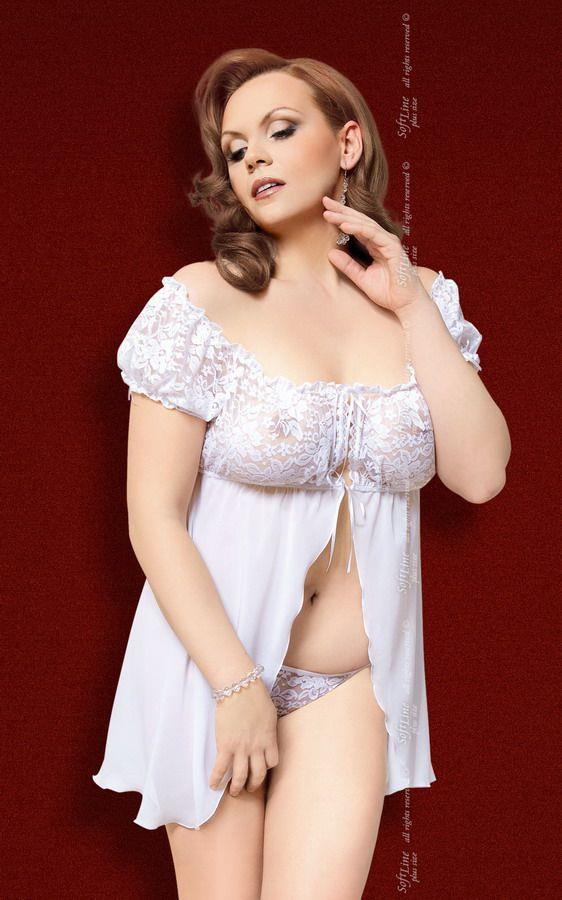 Шифоновая сорочка Josephine на завязках спереди и кружевными вставками