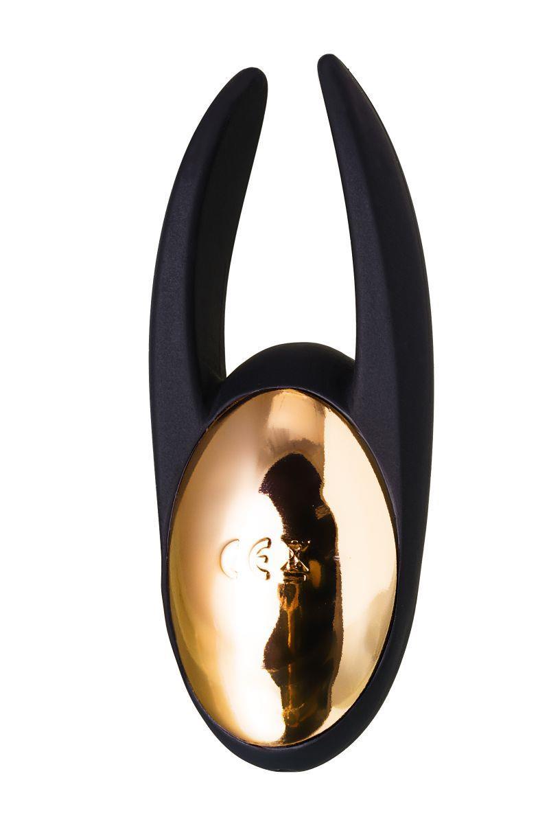 Чёрно-золотой клиторальный вибромассажер WANAME - Wave