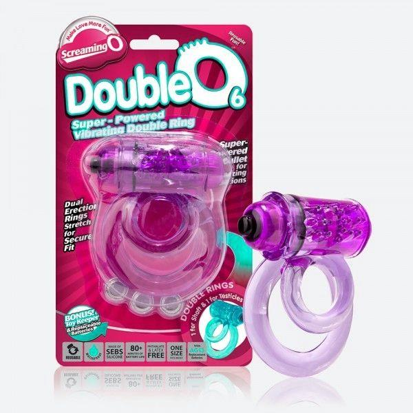 Двойное виброкольцо Doubleo 6 со стимулятором клитора