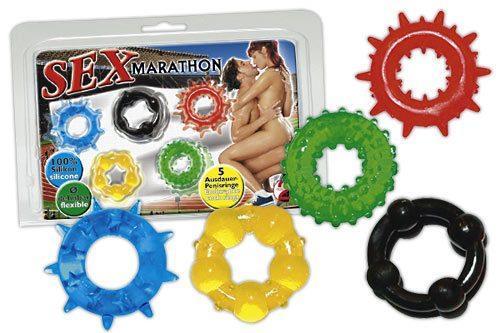 Набор из пяти эрекционных колец Sex-Marathon