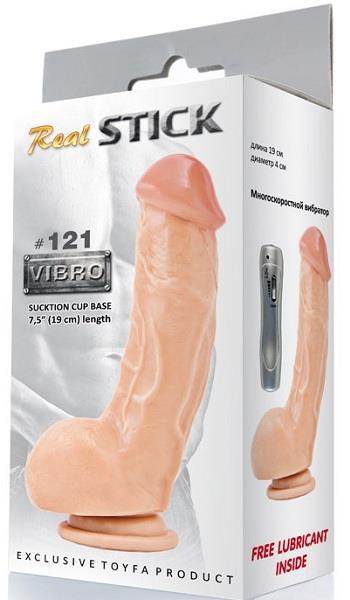 Вибратор RealStick #121 телесный длиной - 19 см.