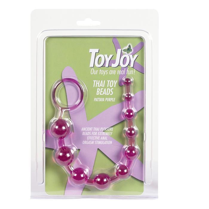 Анальный массажер шарики-цепочка фиолетовый