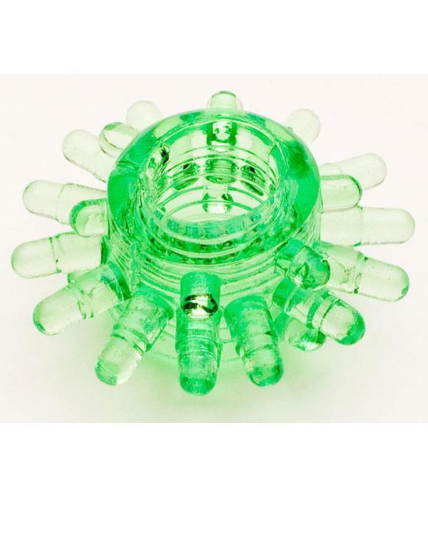 Зеленое силиконовое эрекционное кольцо