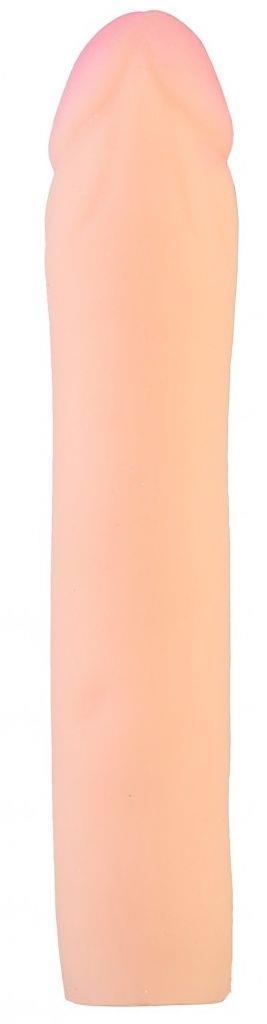 Телесный реалистичный фаллоудлинитель - 18,5 см.
