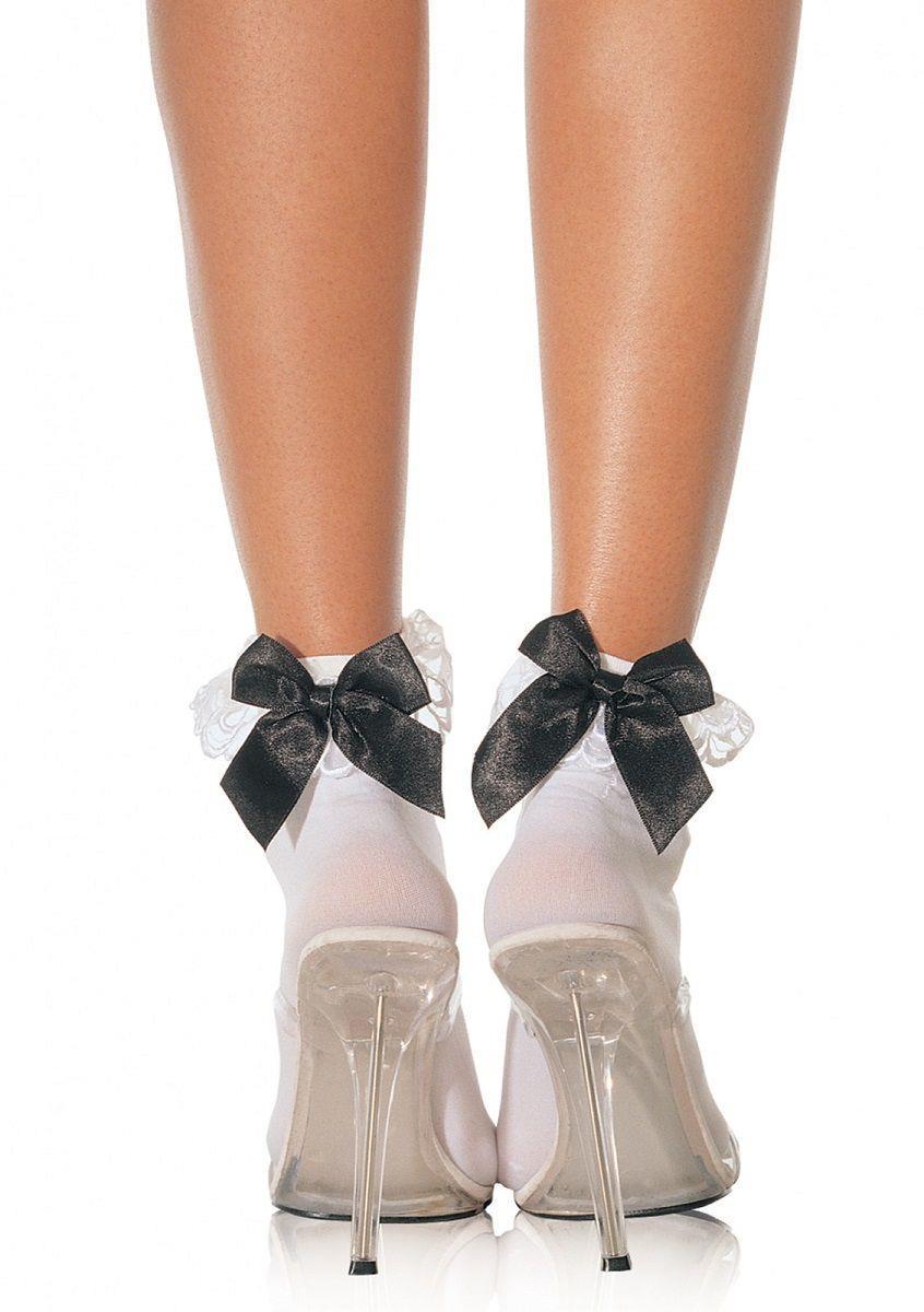 Носочки с кружевными оборками и бантиком
