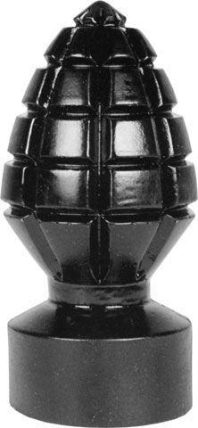 Анальная пробка в виде боеголовки All Black Andreas Dildo - 14,5 см.