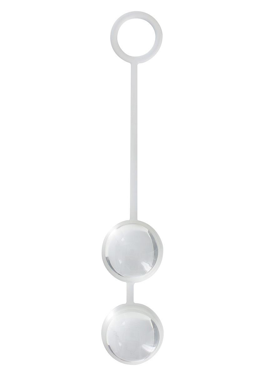 Стеклянные вагинальные шарики «Duo Love Dalls» на силиконовой сцепке