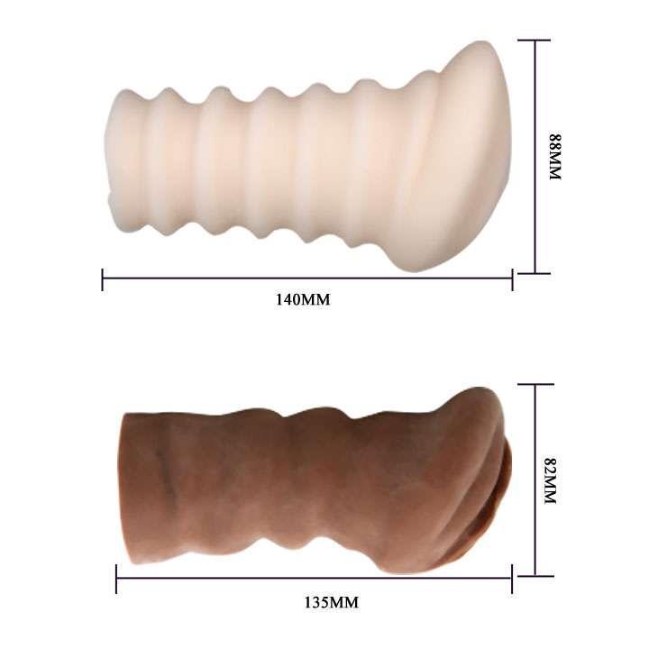 Комплект мастурбаторов-вагин - телесная и темнокожая