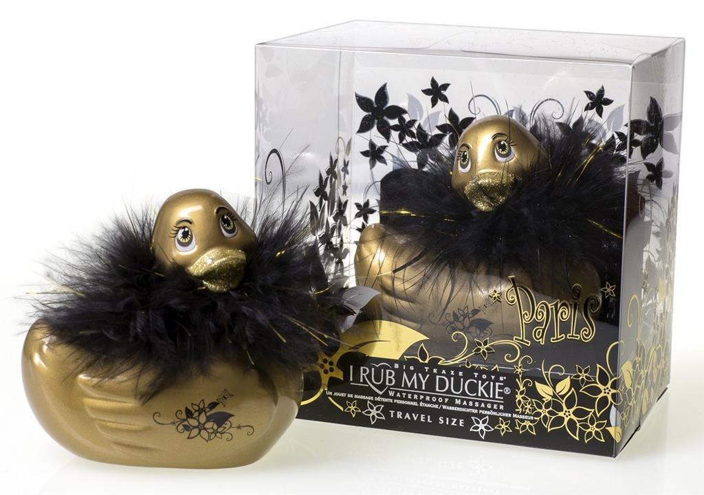 Золотистый массажер-уточка I Rub My Duckie Paris Gold Travel Size