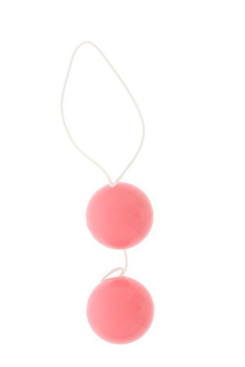 Розовые вагинальные шарики DUO-BALLS (3,5 см)