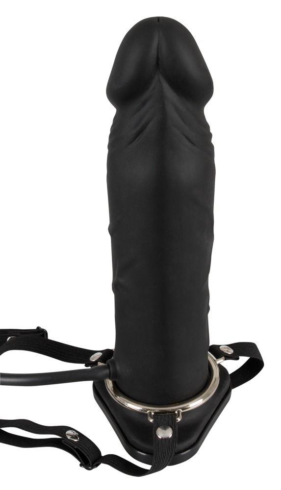 Полый страпон с эффектом увеличения Inflatable Strap-On (18,5 см)