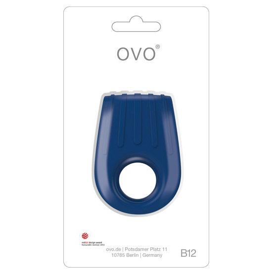 Эрекционное кольцо синее «OVO B12»