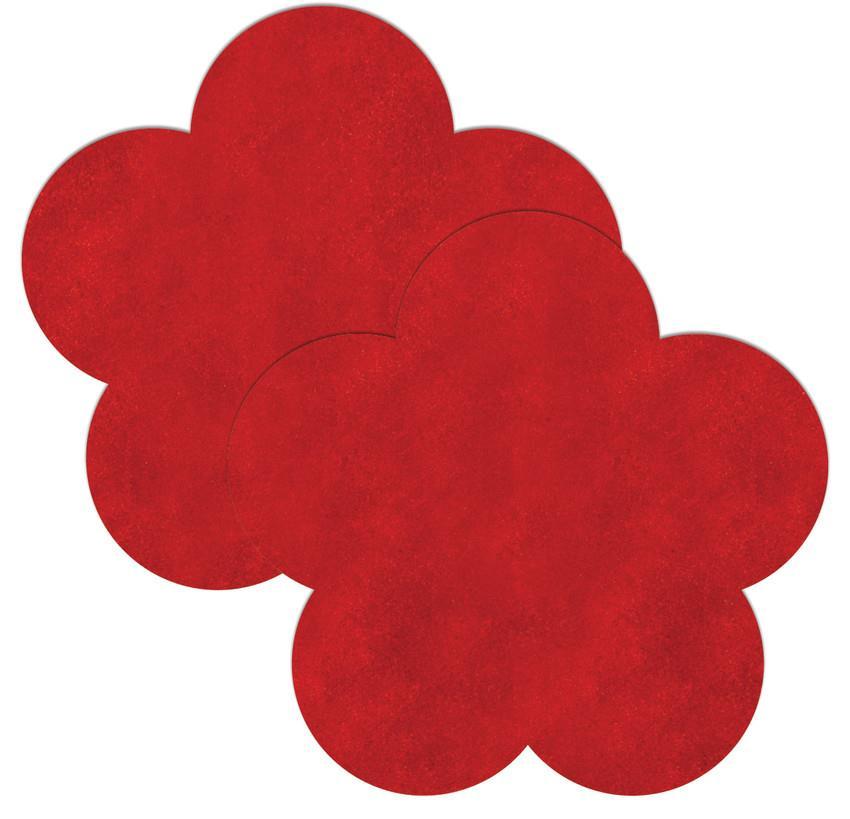 Красные пестисы на грудь в форме цветочков