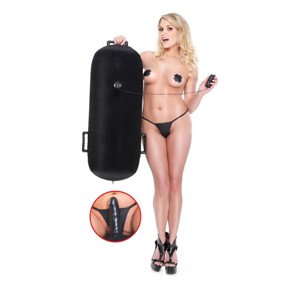 Надувная секс подушка с вибрацией Inflatable Luv Log