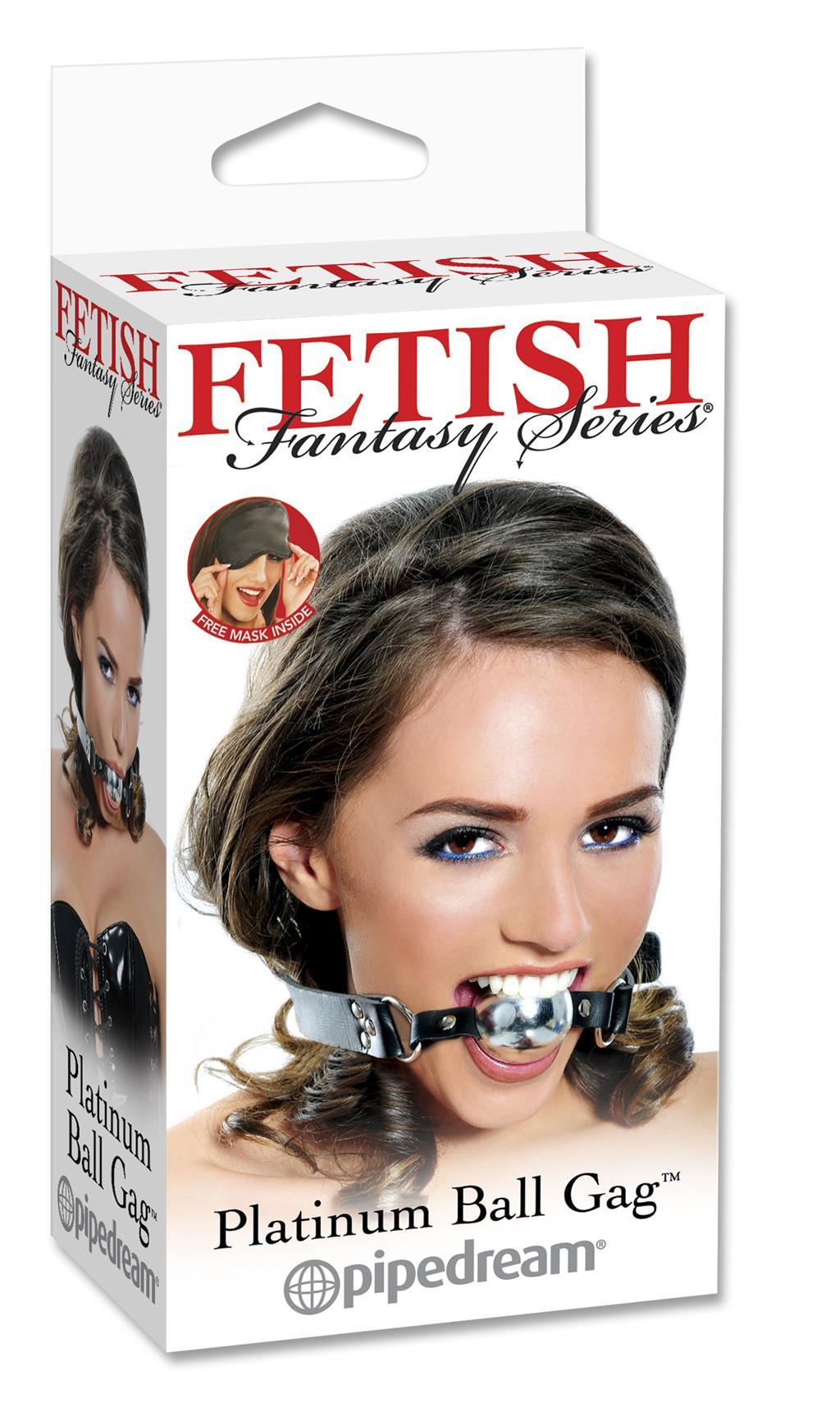 Кляп-мяч под платину «Fetish Fantasy Platinum Ball Gag»