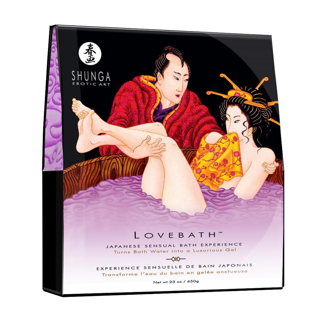 Соль для ванны «Lovebath Sensual lotus» превращающая воду в гель (650 гр)