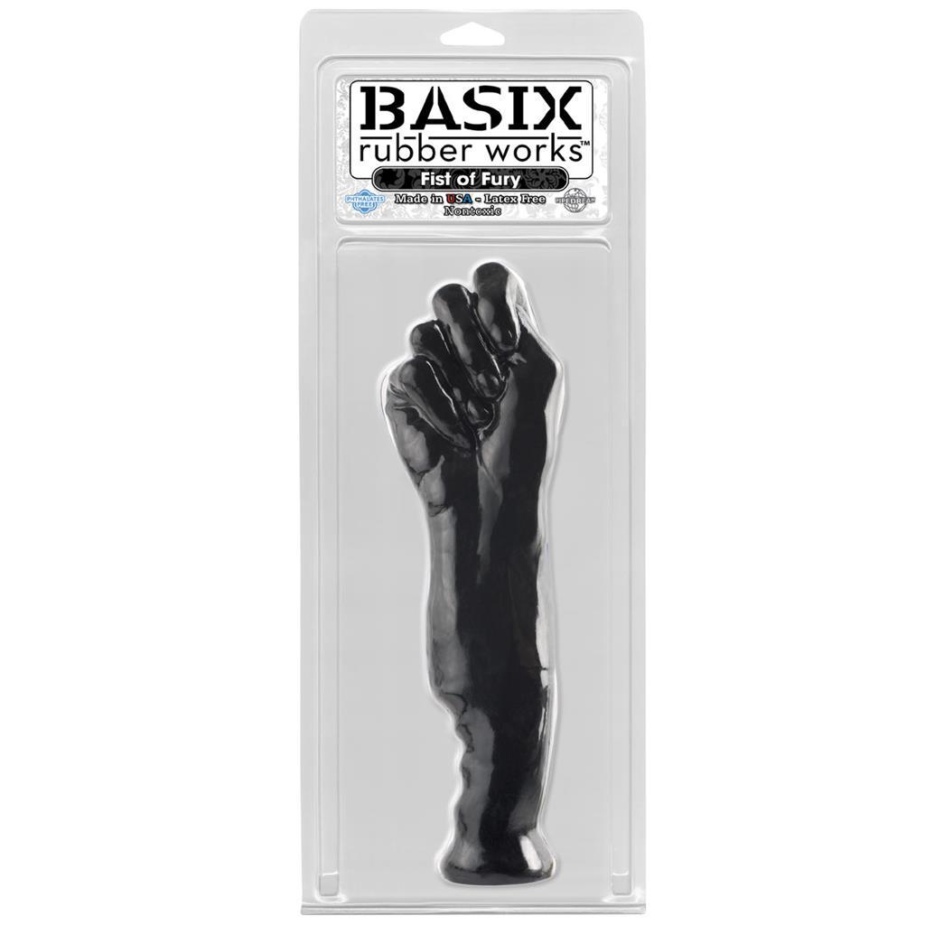Черный фаллоимитатор-кулак - 28 см