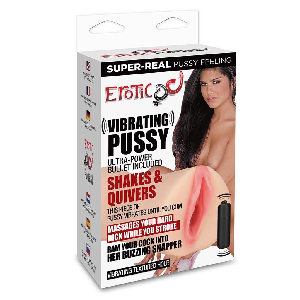 Мастурбатор-вагина с вибропулей VIBRATING PUSSY