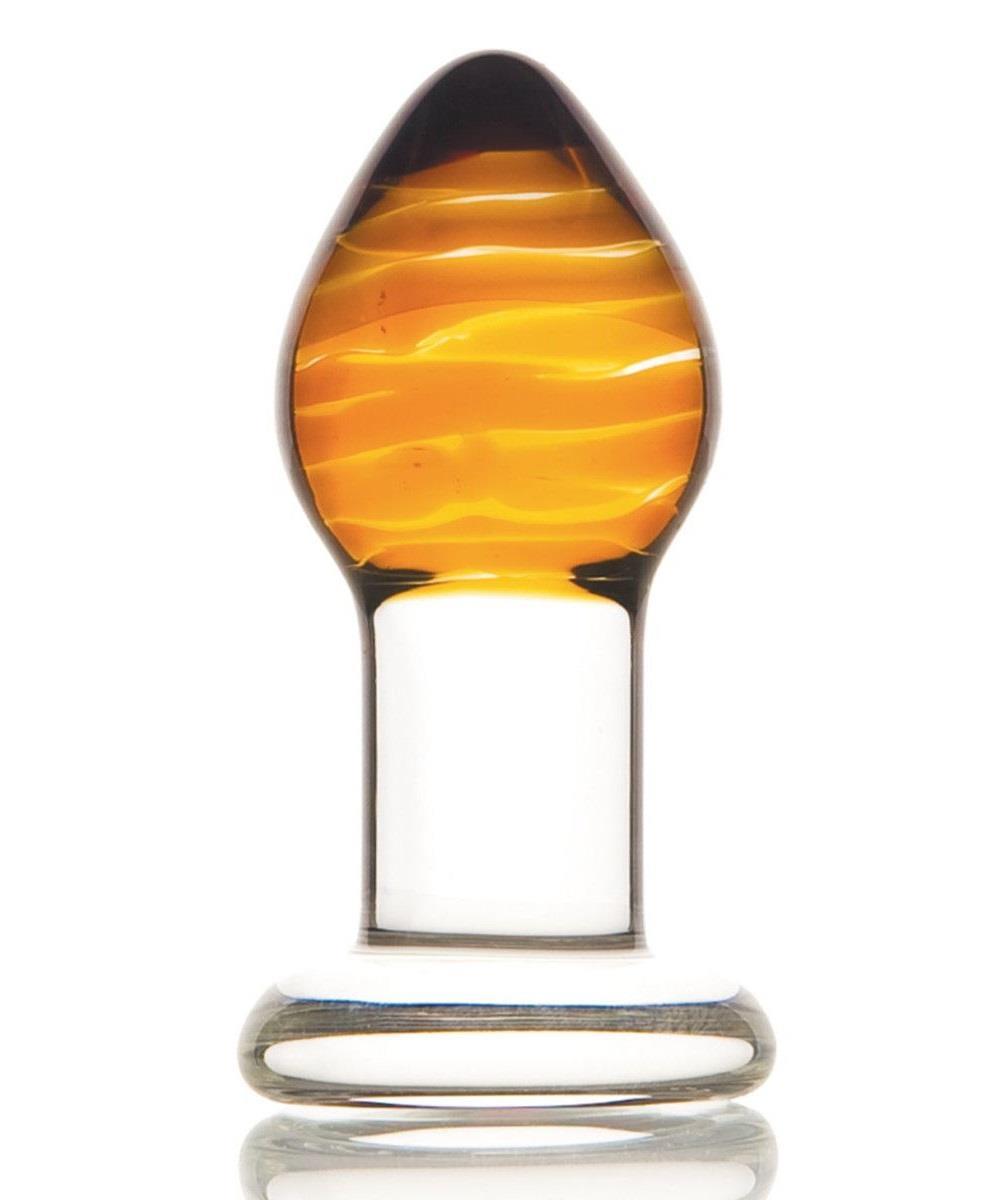 Стеклянная анальная пробка ручной работы (8,5 см)